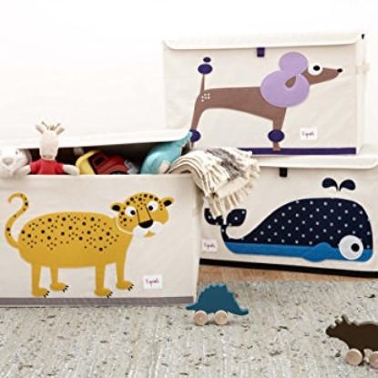 3 Sprouts Fabric Animal Toy Chest