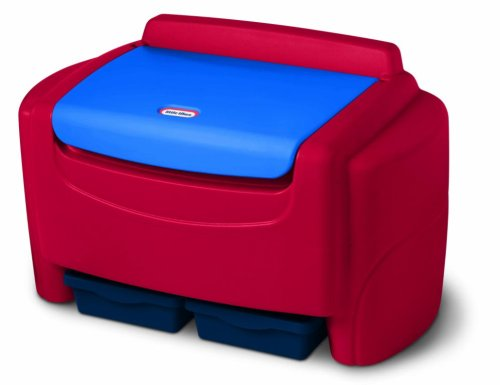 Little Tikes Sort 'n Store Primary Colors Toy Chest with 6 Cubic Feet of Storage Space