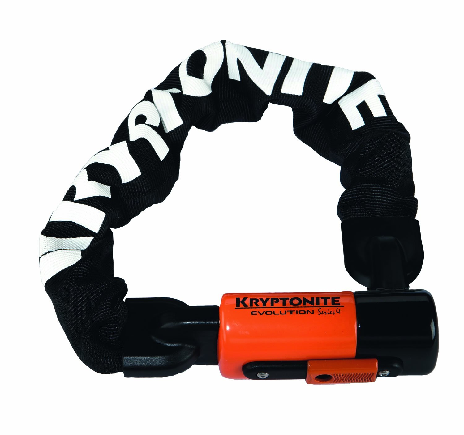 Kryptonite Evolution 4 Integrated Chain Bicycle Lock – 3 Stainless Steel Keys, Multiple Sizes Available