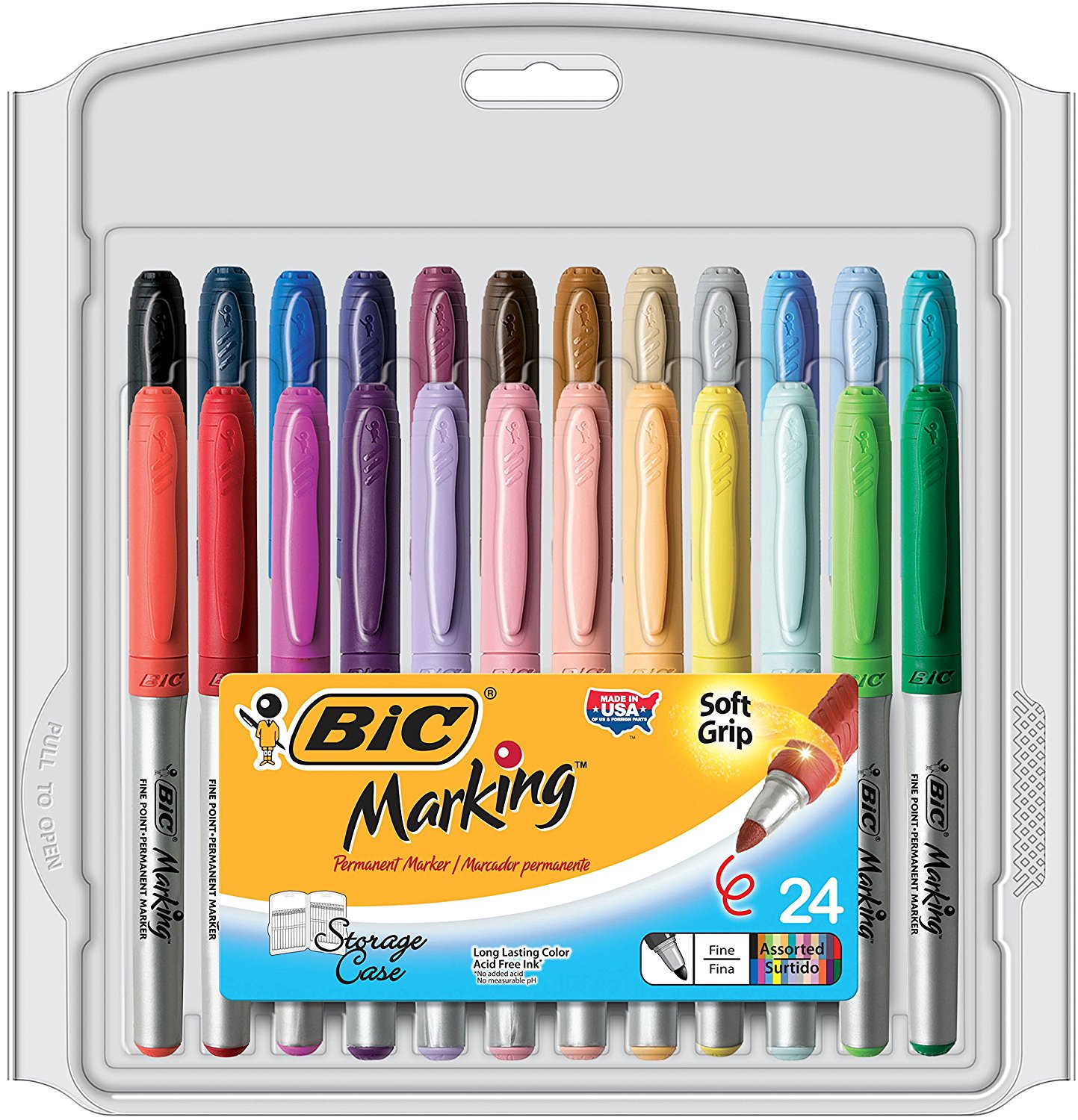 BIC Marking Fashion Colors Fine Permanent Markers – Available In 8, 12, 24 and 36  Count Packs