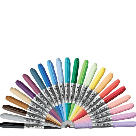 BIC Marking Permanent Marker Fashion Colors