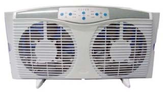 Optimus Reversible Twin Window Fan