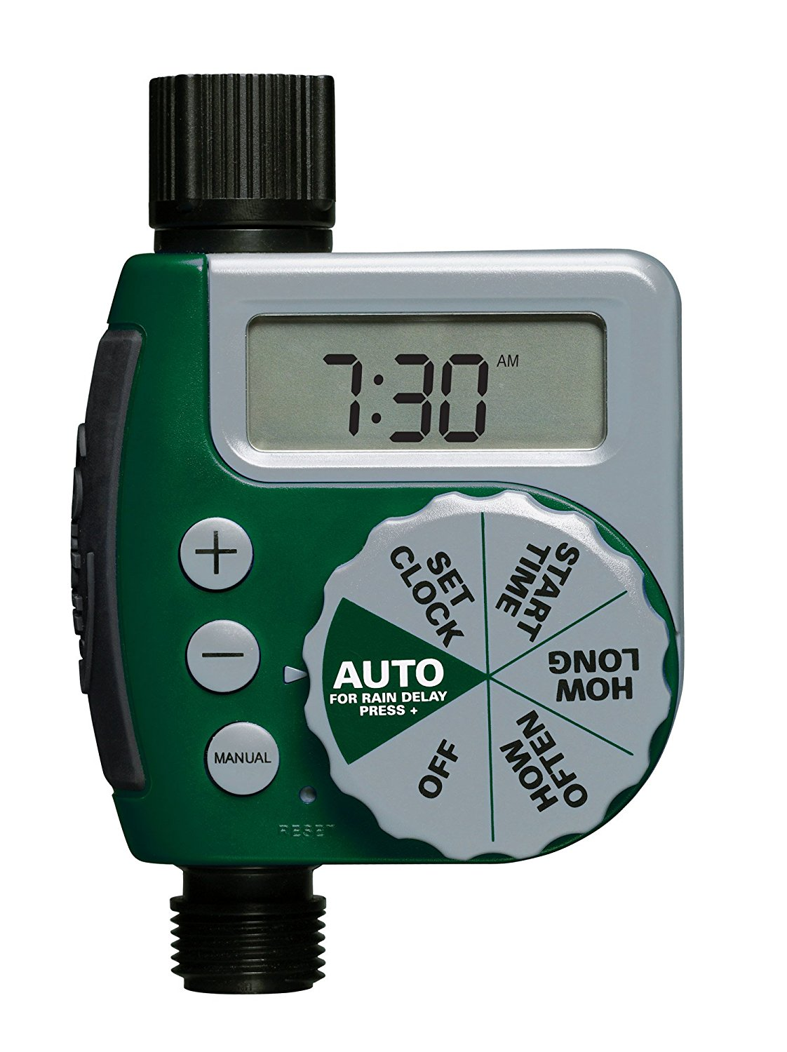 Orbit Programmable Dial Hose Faucet Timer – Digital Readout, Available in 3 Port Options