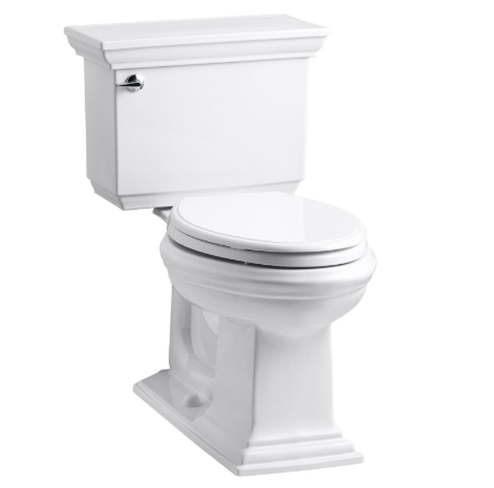 Kohler Memoirs® Stately Comfort Height Two-Piece Elongated 1.28 GPF Toilet with AquaPiston Flush Technology and Left-Hand Trip Lever