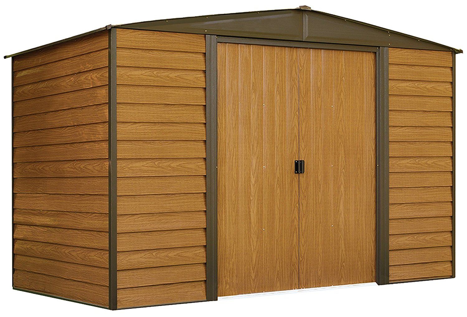 Arrow Woodridge Steel Storage Shed, 10 x 6-Feet