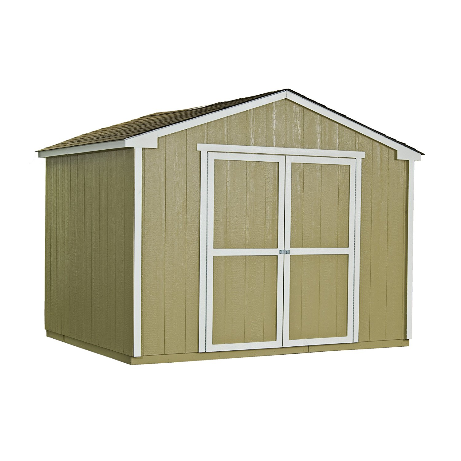 Handy Home Products 10 by 8-Feet Cumberland Wooden Storage Shed with Floor