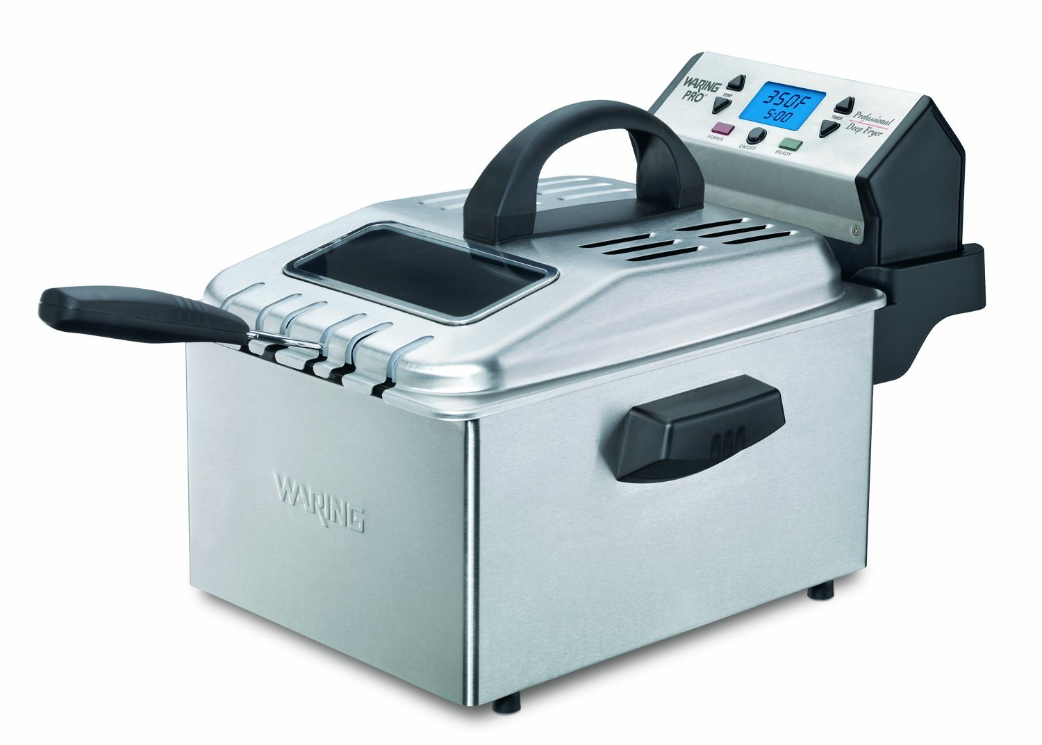 Waring Professional Deep Fryer – 1 Gallon Immersion Fryer with 3 Baskets and Digital Controls