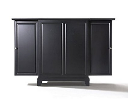 Crosley Furniture Newport Expandable Bar Cabinet – Solid Hardwood and Veneer Construction
