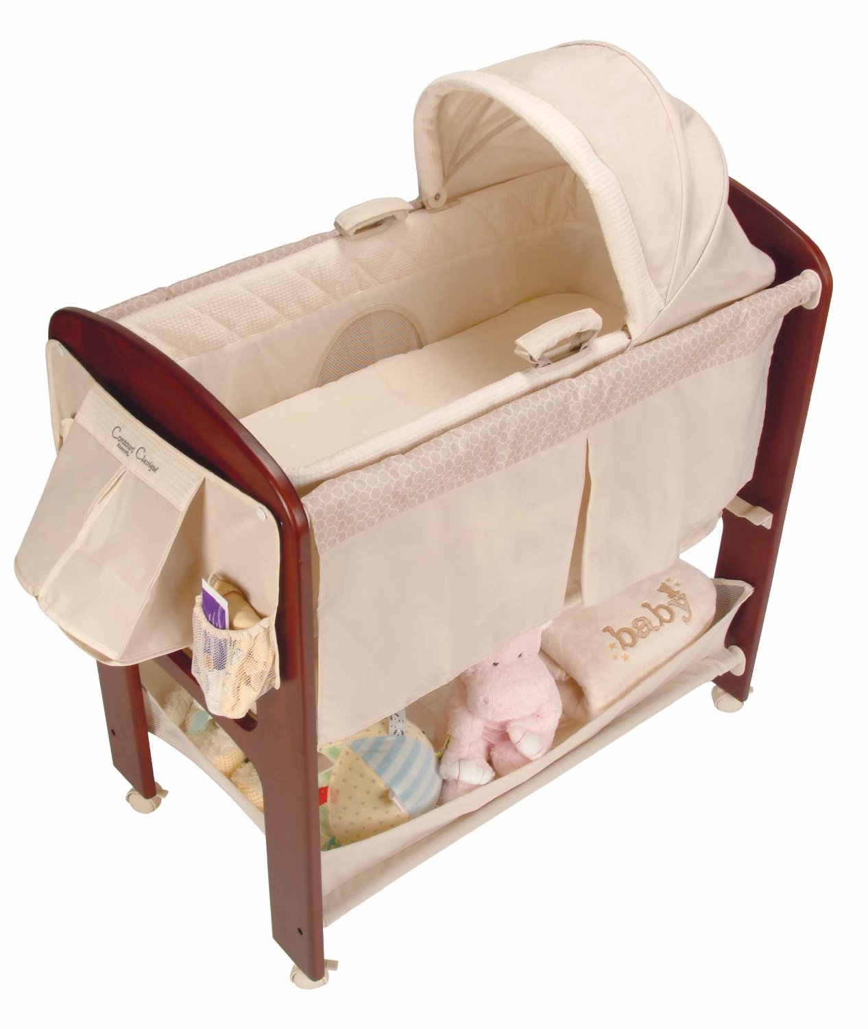 Contours Classique 3-in-1 Bassinet with Wooden Frame