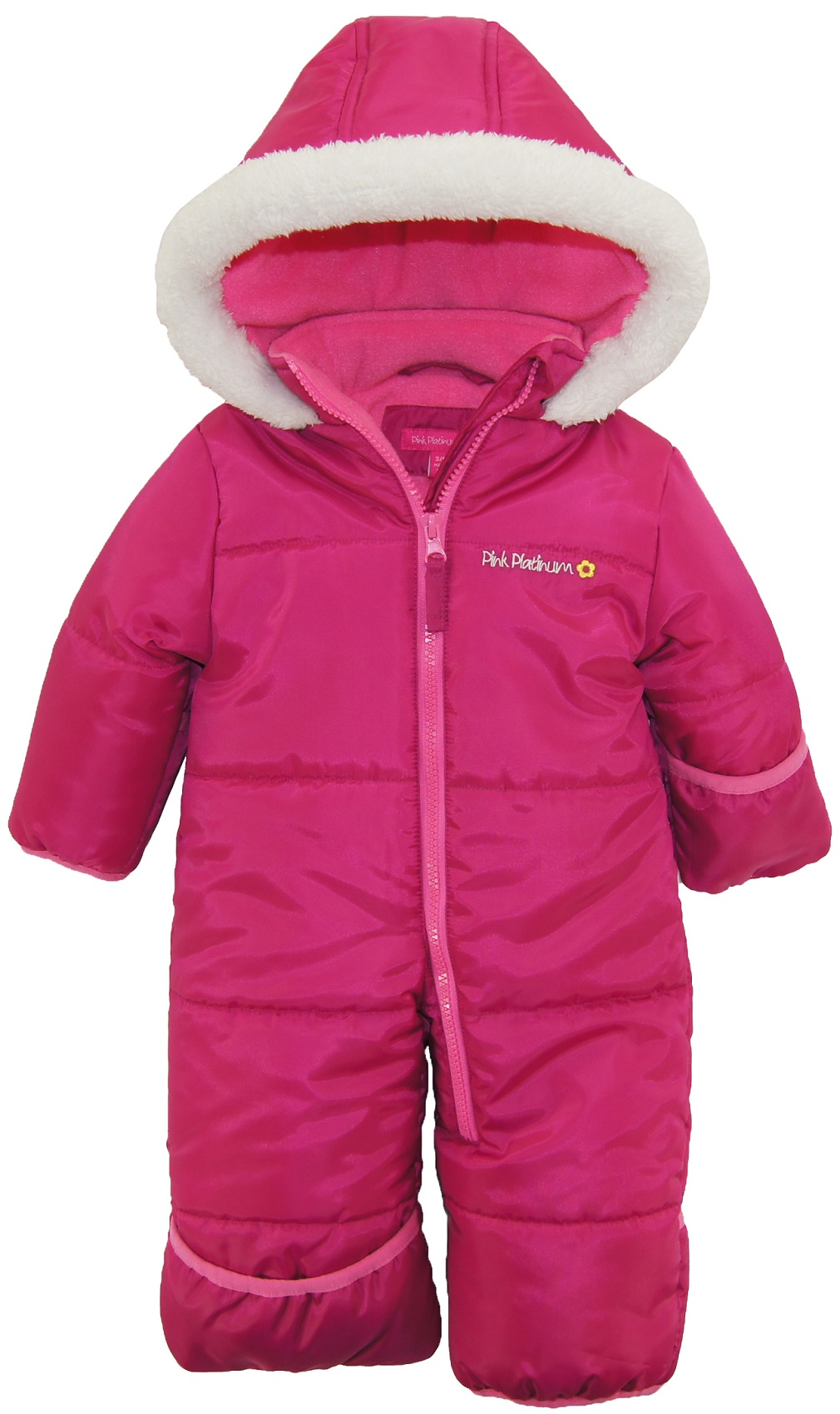 Pink Platinum Baby Girls One Piece Snowsuit