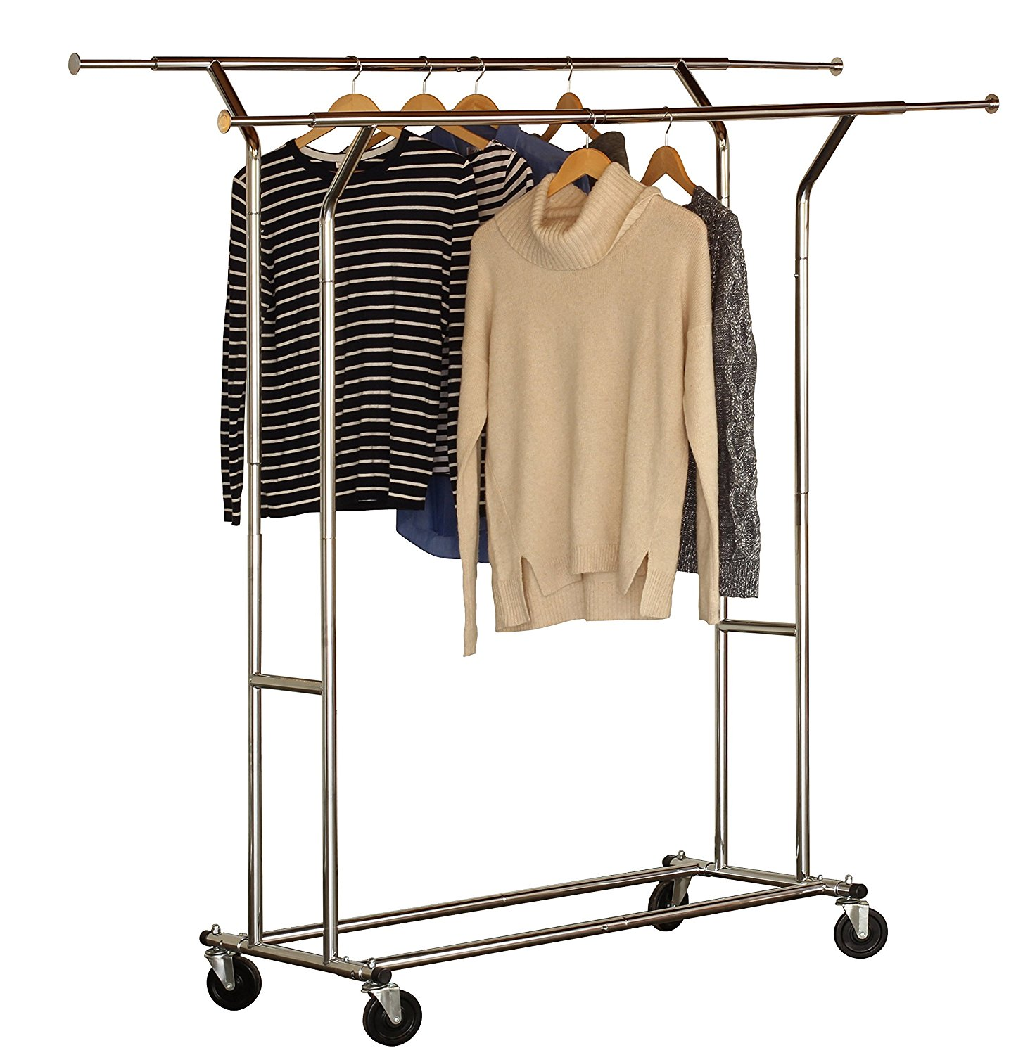 Deco Brothers Double Rail Garment Rack