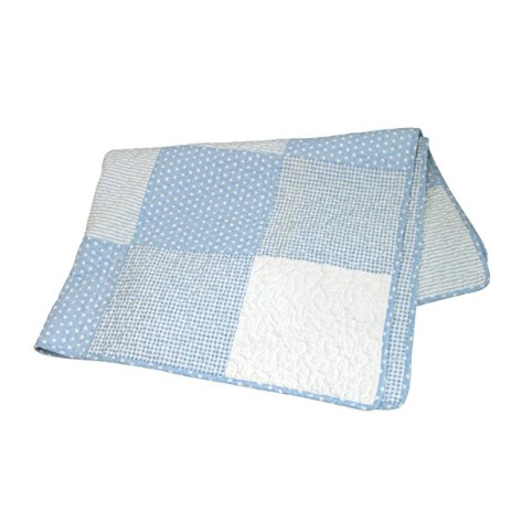 Stephan Baby Reversible Blue Dot Quilt