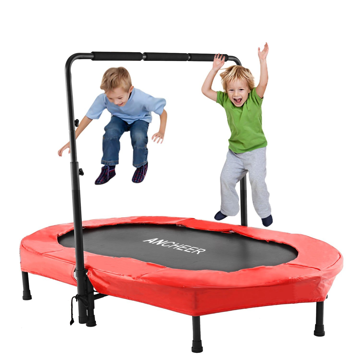 "Ancheer Portable Foldable 36"" Mini Rebounder Trampoline with Handle – Available in 2 Colors"