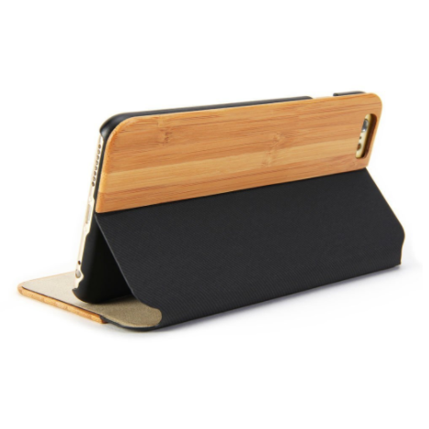GMYLE Wallet Wooden Case for Apple iPhone 6