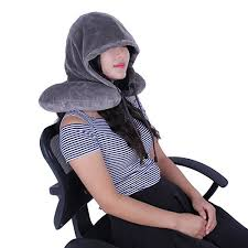 L'Alysse Hooded Travel Neck Pillow