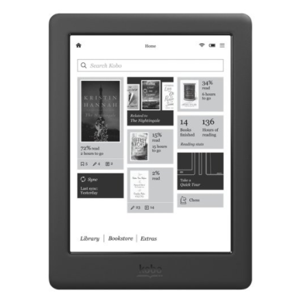 "Kobo Glo Digital E-Book Reader - 6"" High Definition Touchscreen E-Reader, 4GB Storage"