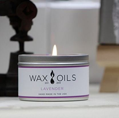 Wax and Oils Lavender Aromatherapy Candle