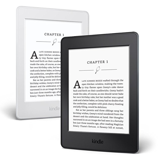 Amazon Kindle Paperwhite E-Reader – 6 Inch, High Resolution Display, No Glare, Available in Black or White,  Essentials Bundle Option
