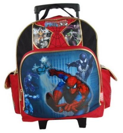 Disney Spiderman Rolling School Backpack for Boys