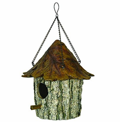 River's Edge Products Oak and Tree Leaf Brown Bird House