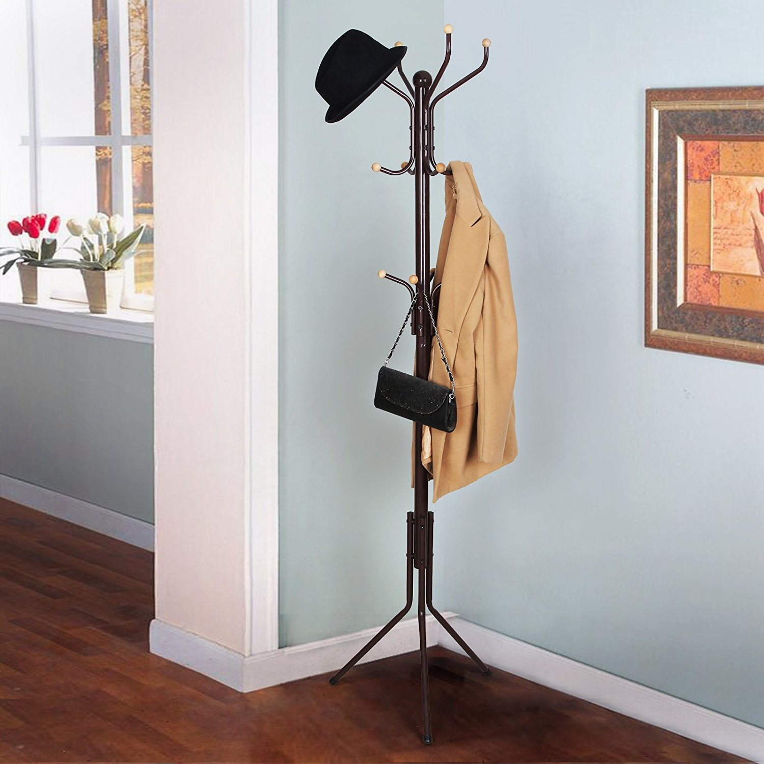 Songmics Free Standing Coat Rack