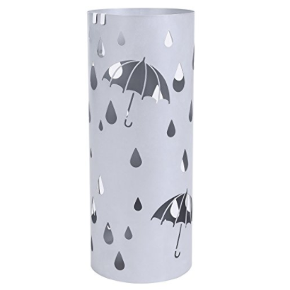 Songmics Silver Stand Metal Umbrella Holder