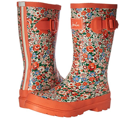 Joules Rubber Sole Printed Girls' Rain Boots - Available in Multiple Sizes & Colors
