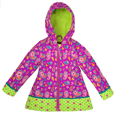 Stephen Joseph Lightweight All Over Print Little Girls' Raincoat -  Available in Multiple Colors