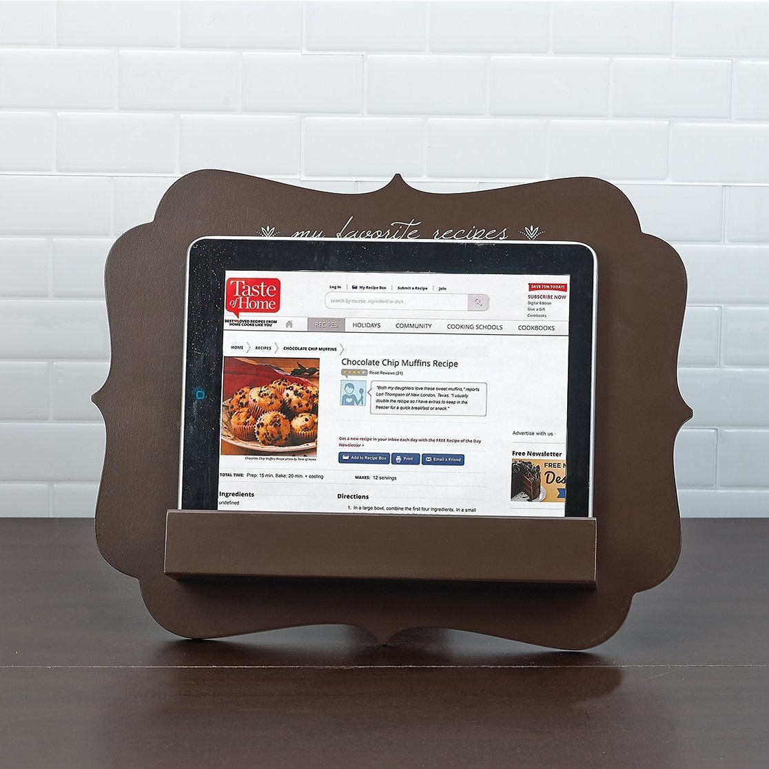 Boston Warehouse Tablet & Cookbook Stand