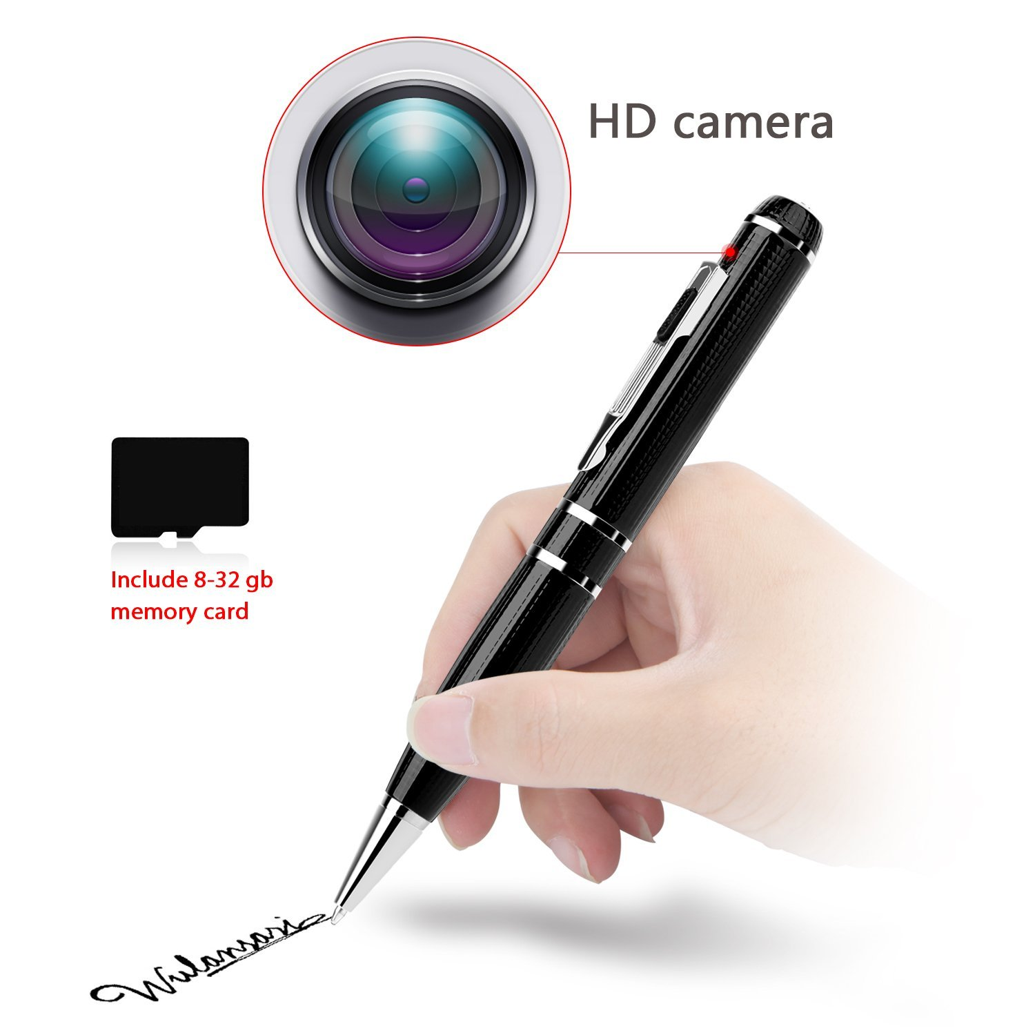 GSmade Full HD 2K Camera Spy Pen