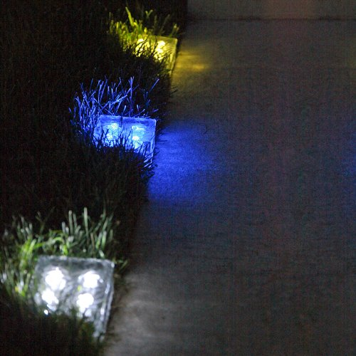 LampLust Glass Solar Brick Waterproof LED Lights