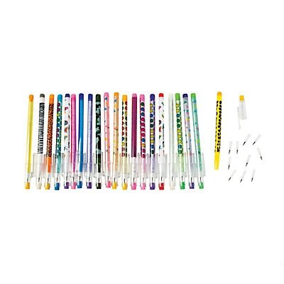 Fun Express Plastic Stacking Point Pencil Assortment – 50 Pieces, Assorted Colors