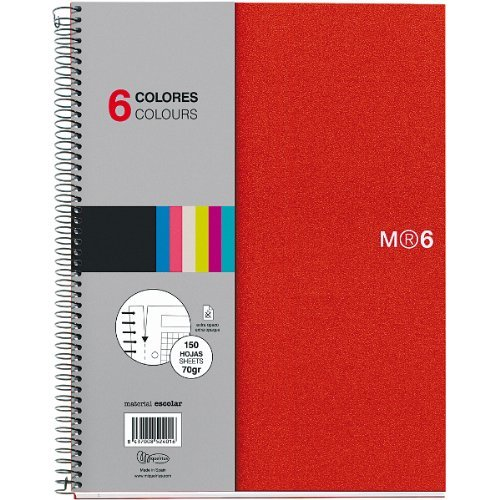 Miquelrius 6-Subject Spiral Notebook