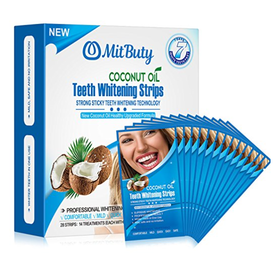 MitButy Coconut Oil Teeth Whitening Strips