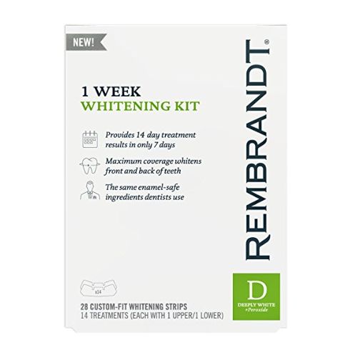 Rembrandt® Intense Stain Dissolving Whitening Strips – Does Not Harm or Stain Dental Work