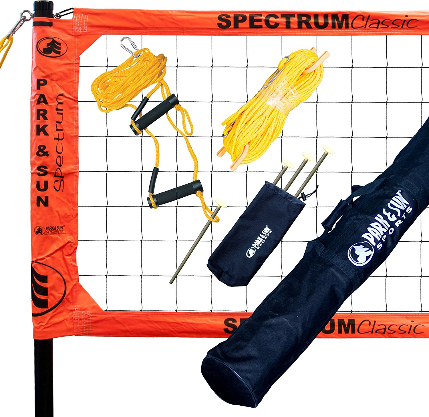 Park & Sun Sports Spectrum Classic: Portable Professional Outdoor Volleyball Net System – Available in 6 Colors