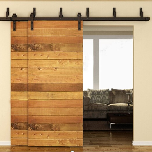 WINSOON Antique Sliding Barn Door Kit