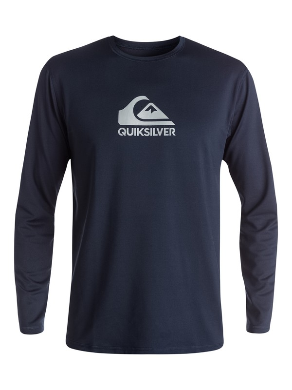 Quiksilver Solid Streak Long Sleeve UPF 50+ Rash Guard For Men - Available in Four Colors