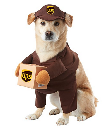 California Costumes UPS Pal Pet Halloween Costume with Sleeves for Front Legs - Available in 4 Sizes