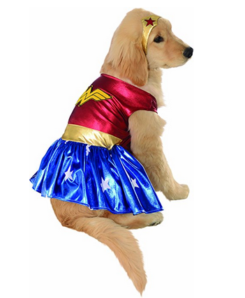 Rubies Wonder Woman Halloween Pet Costume with Headpiece