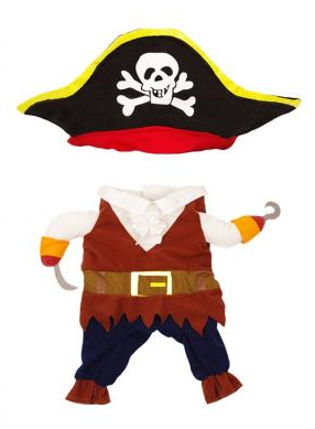 Topsung Cool Caribbean Pirate Halloween Pet Costume
