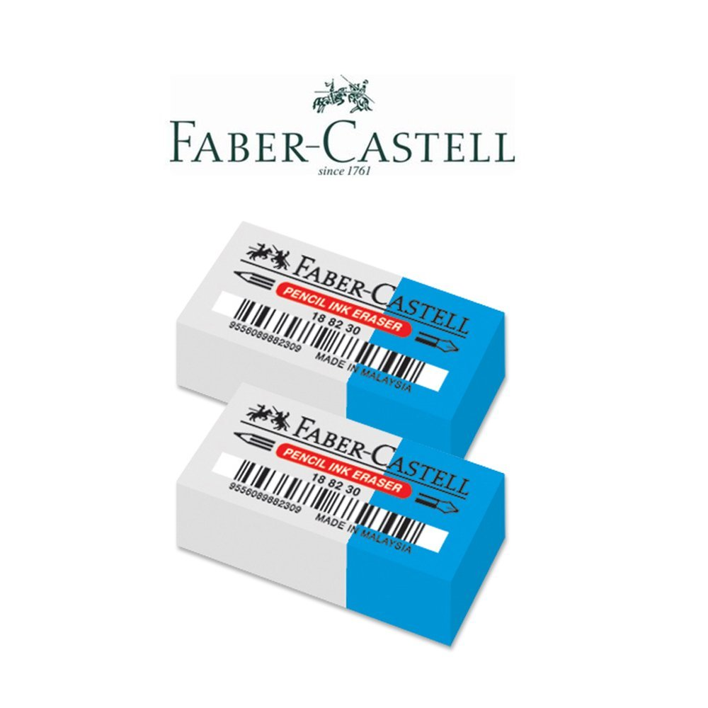Faber-Castell Pencil-Ink Combo Eraser - Pack of 2