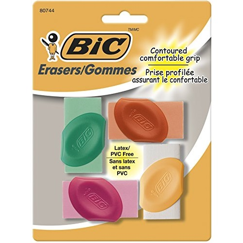 BIC Assorted Erasers with Grip