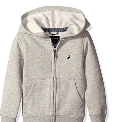 Nautica Boys, Fleece Full Zip Hoodie with Pouch Pocket – Available in 5 Colors & Multiple Sizes