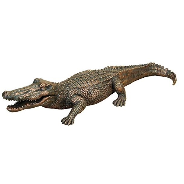 Deco 79 Polystone Alligator Decor