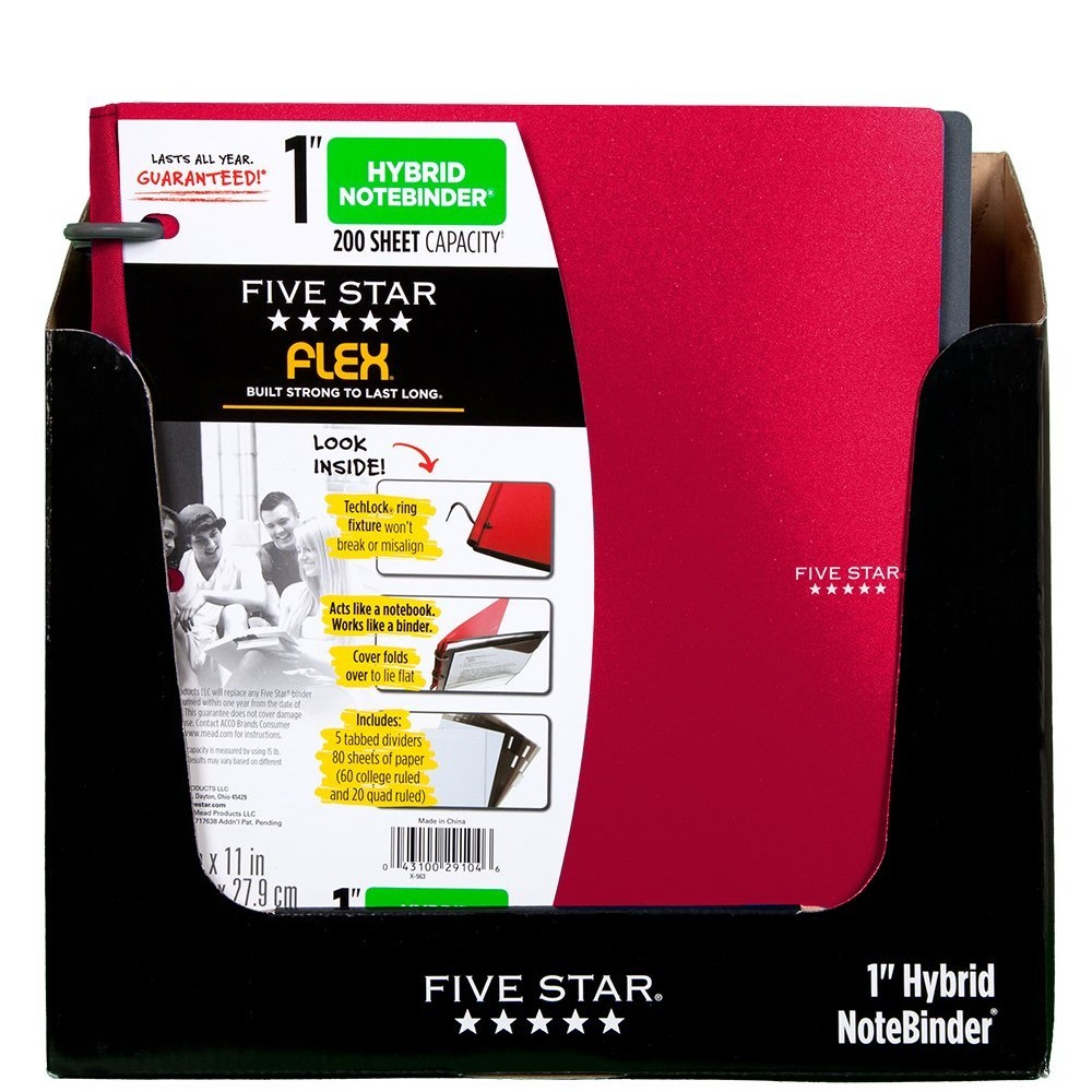 "Five Star Flex 1"" Hybrid NoteBinder"