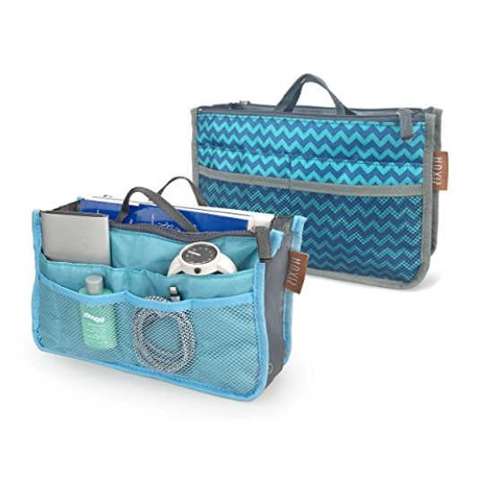 Multifunction Slim Bag-in-Bag Purse Organizer