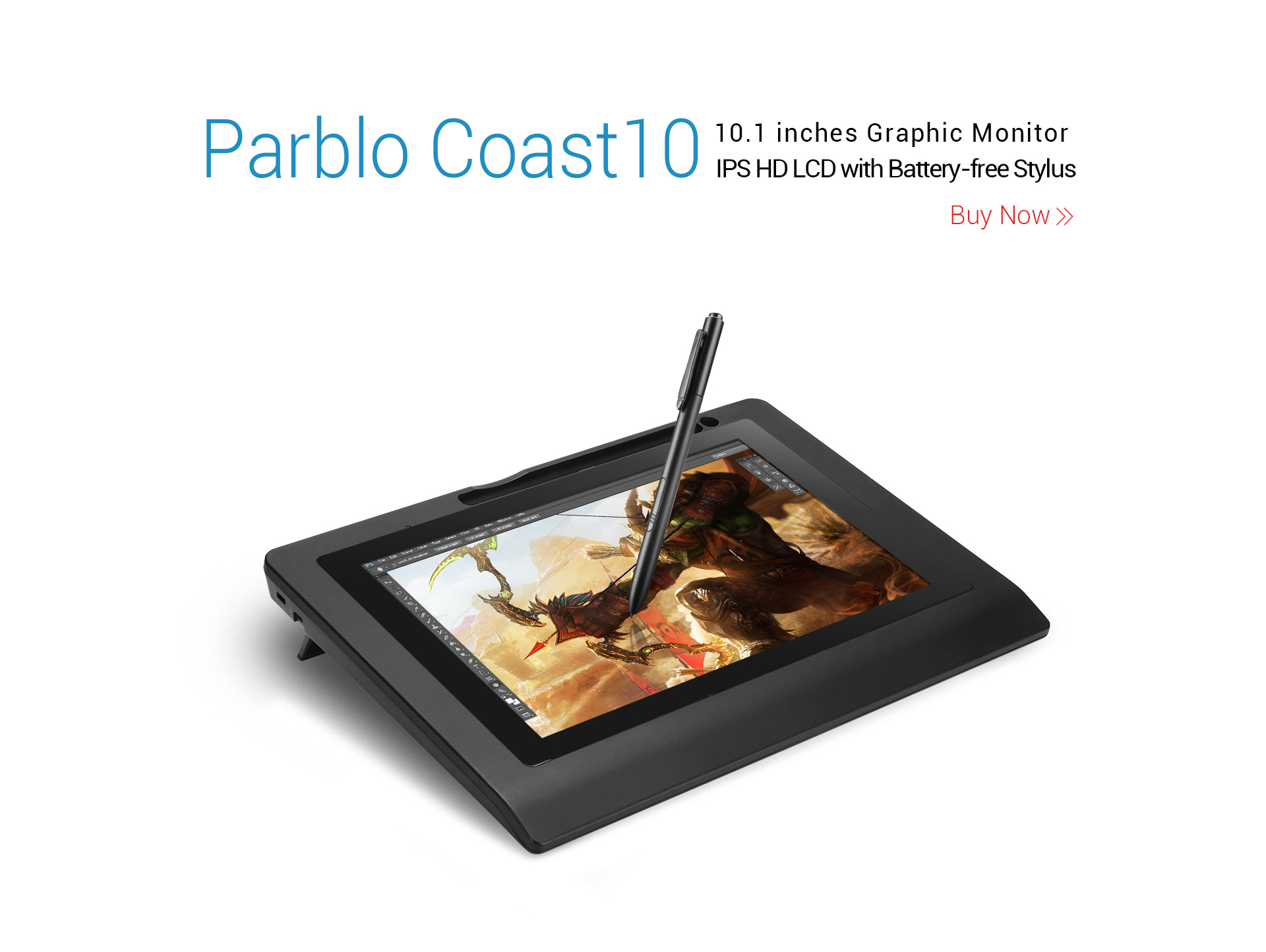 "Parblo Coast10 10.1"" Graphics Tablet"