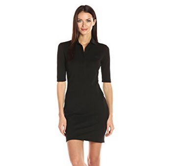 Lacoste Women's 3/4 Sleeves Polo Dress – Available in Multiple Colors