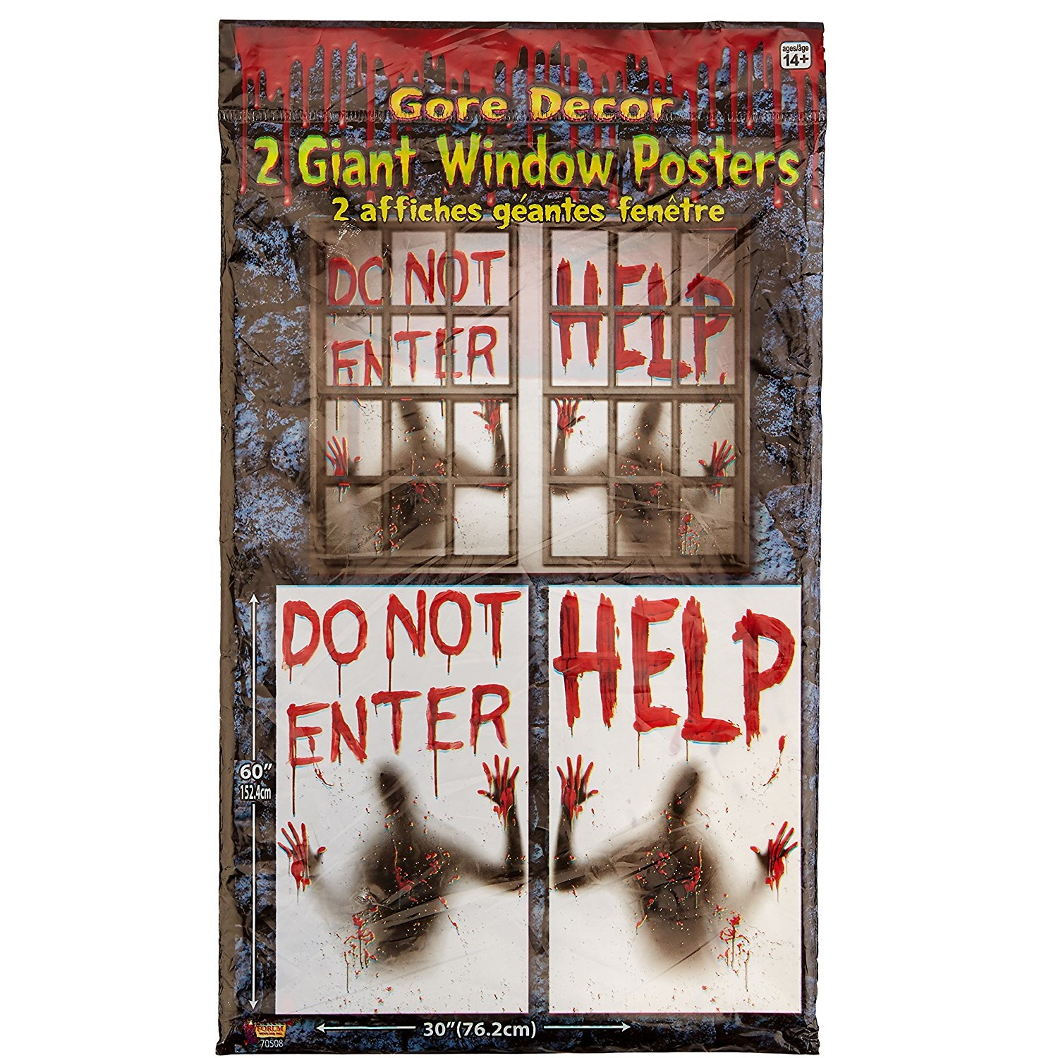 Forum Novelties Bloody Halloween Window Posters
